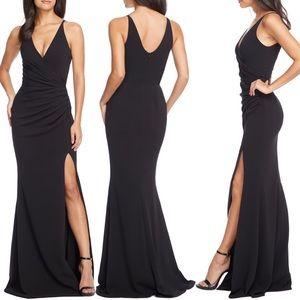 Dress the Population Jordan Slit Side Gown NWOT